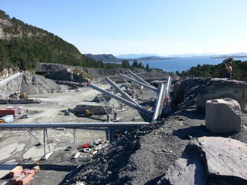 Krossanläggning Stålkonstruktion Norge