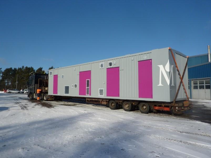 Processcontainer Stålkonstruktion Biogas